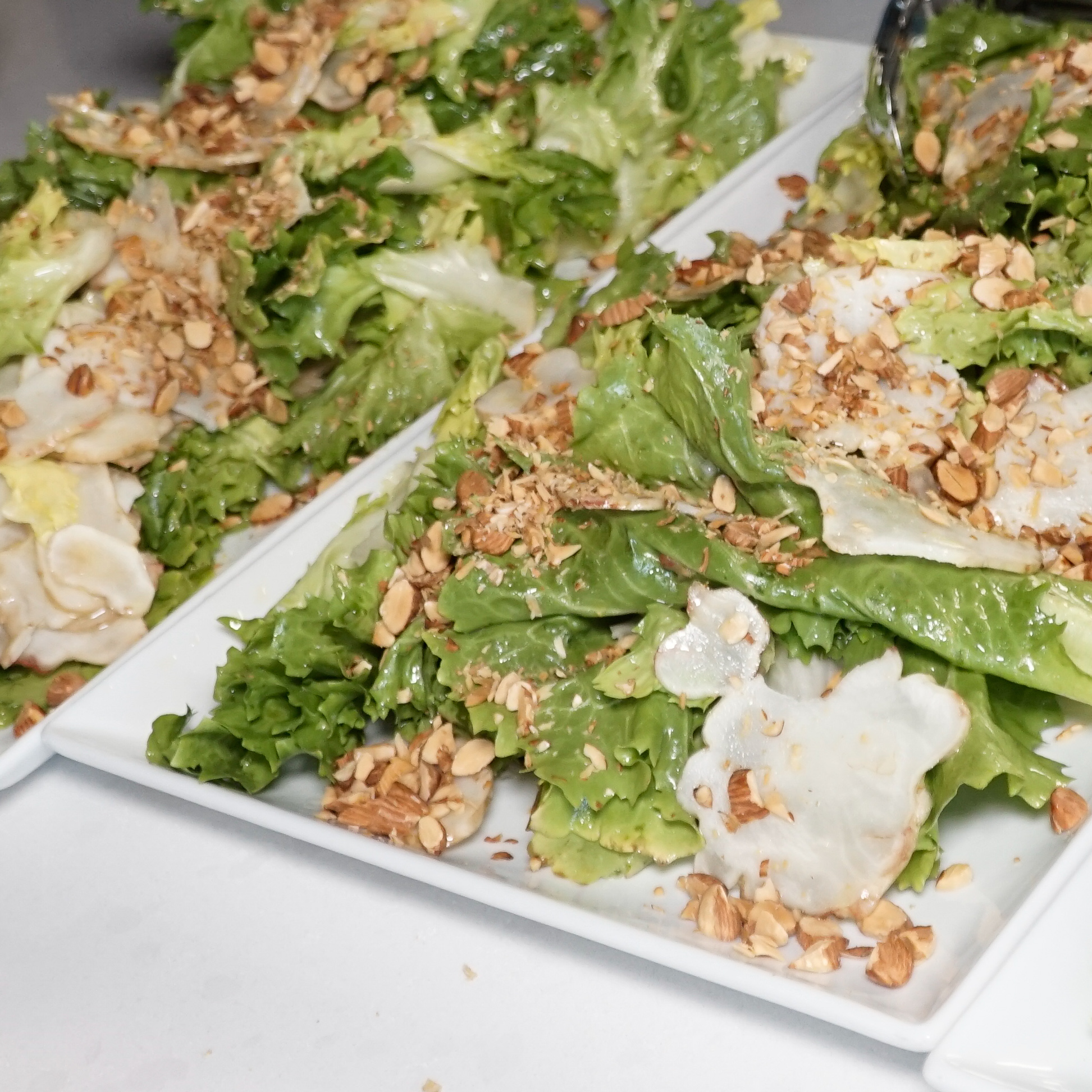 Escarole Salad with Sprouted Almonds